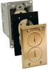 Rectangular, Metallic Floor Box - Brass -- 6500BR