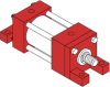 Series A Pneumatic Cylinder - Model A43 NFPA Style MS7 -- Foot Mounting - Image