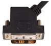 DVI-D Single Link LSZH DVI Cable Male / Male 45 Degree Left, 3.0 ft -- DVIDSLZ-45-3 -Image
