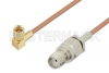 SMA Female to SSMC Plug Right Angle Cable 36 Inch Length Using RG178 Coax -- PE3C4464-36 -Image