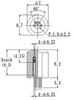 """Laser Diode Socket, 2.2mm/0.087"""" Pitch Circle, Solder Dip, 4pin -- LD220P-4P-F7L125 -- View Larger Image"""