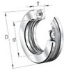 51100 Series Extra Light Duty Ball Thrust Ball Bearings -- 51103