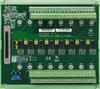68-pin SCSI DIN-rail Wiring Board with CJC -- PCLD-8810E