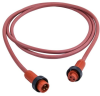 Mini-Link Cable Assembly, Hi-Temp silicone, Male/Female, 2 pole, 3', 16 AWG -- 102G0030AHT -- View Larger Image
