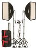KSBQ-2600 PRO SOFTBOX LIGHT KIT W/ACCENT LIGHT: KSBQ-2600 1100W, PRO SOFTBOX 3-LIGHT KIT w/ACCENT LIGHT -- 402365