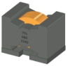 44uH, 20%, 11.2mOhm, 17.4Amp Max. DIP Flat Wire Inductor -- DHP106095S-470MHF -Image