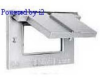 Weatherproof Device Box Cover 1 GFCI/Decorator Recept Zinc Die Cast -- 78358590300-1 - Image