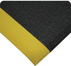 Wearwell 440 Black/Yellow Urethane Surface/Vinyl Sponge Base Anti-Fatigue Mat - 4 ft Width - 60 ft Length - 715411-24105 -- 715411-24105