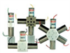 Cole-Parmer Manifold Mixing Solenoid Valve; 12 VDC, PTFE body, 4 solenoid, 4 inlet, 1 outlet -- EW-01356-08