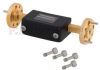 WR-12 Waveguide Attenuator Fixed 1 dB Operating from 60 GHz to 90 GHz, UG-387/U Round Cover Flange -- FMWAT1001-1 -Image