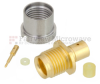 SMP Male Bulkhead Full Detent Connector Solder Attachment For RG405, RG405 Tinned, .086 SR Cable -- FMCN1244 -Image