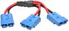 Y Splitter Cable for Select Tripp Lite Battery Packs, Blue 175A DC Connectors, 1 ft. (0.3 m) -- 48VDCSPLITTER