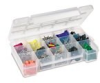 Akro-Mils Clear Industrial Grade Polymer Storage Case - 11 in Overall Length - 7 in Width - 2 3/8 in Height - Tray Not Included - 05805 -- 05805