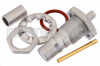 QMA Female Bulkhead Mount Connector Crimp/Solder Attachment for RG174, RG316, RG188, 0.100 inch, PE-B100, PE-C100, LMR-100, .268 inch D Hole -- PE44507 -Image