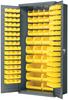 Cabinet, Steel Door Bin Cabinet, 138 Bins -- AC3624Y -Image