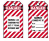 English Lockout Tag Danger - Equipment Locked Out By Rigid Vinyl -- 07498369975-1