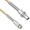Teflon Jacket Cable Assembly TRB 3-Slot Plug to Non-Insulated Bulk Head 3-Lug Cable Jack with Bend Reliefs .236
