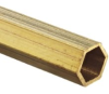 Brass C260 Hexagonal Tubing, 1/8