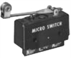 MICRO SWITCH DT Series Standard Basic Switch, Double Pole Double Throw Circuitry, 10 A at 250 Vac, Roller Lever Actuator (Reversed Lever Position),1,57 N to 2,64 N [5.5 oz to 9.5 oz] Operating Force, -- DT-2RV239-A7