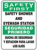Safety Shower Sign,14 x 10In,AL,Text -- 8DGL2