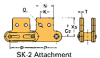 Double Pitch Conveyor Lambda Chain Attachment -- C2100H-LAMBDA-SK-2 - Image