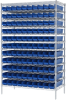 Akro-Mils 2000 lb Adjustable Blue Chrome Steel Open Adjustable Fixed Shelving System - 120 Bins - 2000 lb Total Capacity - AWS244830124 BLUE -- AWS244830124 BLUE - Image