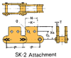 Double Pitch Chain Attachment with Large Plastic Rollers -- C2102HD SK-2 - Image