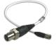 General purpose coaxial cable, white FEP jacket, 1-ft, 10-32 plug to BNC jack -- 002B01 -- View Larger Image