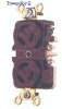 Duplex Locking Receptacle Brown 15A 250V 2P -- 78358500237-1 - Image
