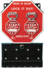 Brady Shock-Stop Black/White on Red Group Lockout Box 87692 - 10.5 in Width - 16.5 in Height - 662820-05123 -- 662820-05123