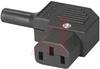 Plug Assembly, Power; 10 A; 250 VAC; 1000 Megohms (Min.); Nylon; 18 AWG -- 70133306 - Image