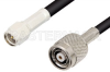 SMA Male to Reverse Polarity TNC Male Cable 48 Inch Length Using RG58 Coax -- PE34853-48 -Image