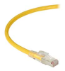 GigaTrue 3 CAT6A 650-MHz Ethernet Patch Cable - Shielded F/UTP, PVC, Slimline Lockable, Yellow, 10 ft. -- C6APC80S-YL-10