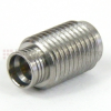 SMA Female (Jack) to SMP Male (plug) Full Detent Threaded Adapter, Passivated Stainless Steel Body, High Temp, 1.2 VSWR -- SM8822 - Image