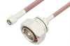 SMA Male to 7/16 DIN Male Cable 60 Inch Length Using RG142 Coax -- PE3224-60 -Image