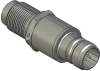Honeywell Harsh Application Aerospace Proximity Sensor, HAPS Series, Inline cylindrical threaded form factor, 2,50 mm/3,50 range, 3-wire open collector output normally open, EN2997Y10803MN termination -- 1PCTD3CCN1-000 -Image