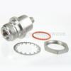 Bulkhead Hermetically Sealed SMA Female (Jack) to N Female (Jack) Adapter, High Temp, 1.3 VSWR -- SM4245 - Image