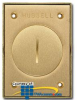 Hubbell Brass 2.375 Inches Single Receptacle Round Floor.. -- S3425 - Image