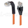 Category 5E Shielded Right Angle Patch Cable, Straight/Right Angle Down, Orange 25.0 ft -- TRD815SRA1OR-25 -Image