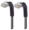 Shielded Category 6 Right Angle Patch Cable, Right Angle Up/Right Angle Up, Black, 30.0 ft -- TRD695SRA5BLK-30 -Image
