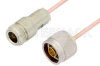 N Male to N Female Cable 18 Inch Length Using RG405 Coax, RoHS -- PE3921LF-18 -Image