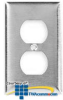 Hubbell 1-Gang Duplex Satin Stainless Wallplate -- HUB-SS8 - Image