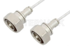 7/16 DIN Male to 7/16 DIN Male Cable 24 Inch Length Using PE-SR402FL Coax -- PE36144LF-24 -Image