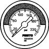 Pressure gauge -- MA-50-232-R1/4-PSI-E-RG -Image