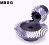 100mm PD Ground Spiral Bevel Gears -- MBSG2.5-4020R - Image