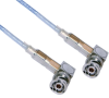 3-SLOT FULL CRIMP PLUG R/A TO R/A M17/176 TWINAX, 300 INCH CABLE LENGTH -- MP-2167-300 -Image