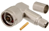 N Type Plug Right Angle 50 Ohm Coax Connector Crimp Attachment for RG214, RG9, RG225, RG393 -- MTCN0024 - Image