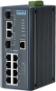 8FE PoE and 2G Combo Managed Ethernet Switch, IEEE802.3af/at, 24~48VDC, -40~75℃