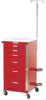 Mini Line Six Drawer Emergency Cart Specialty Package 3.. -- 3156B-EMG -- View Larger Image