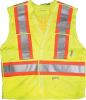 2XL/3XL 5 Point Lime Green Safety Vest -- 8380719 - Image